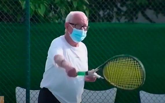 Paco Moret a sus 92 años reta a Rafa Nadal